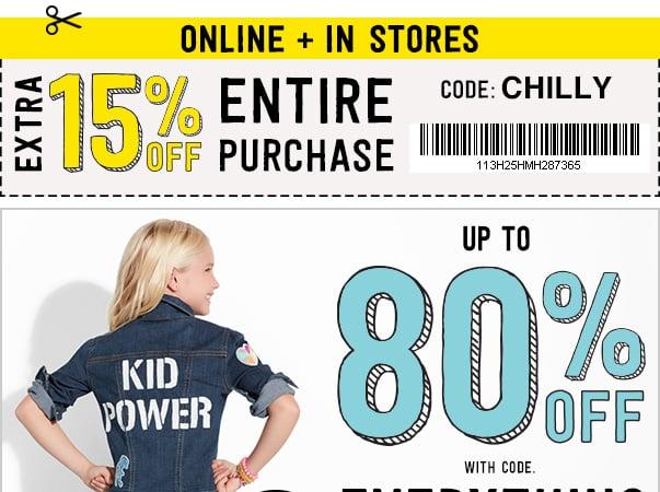 15% off na compra toda na Crazy8 – código: CHILLY